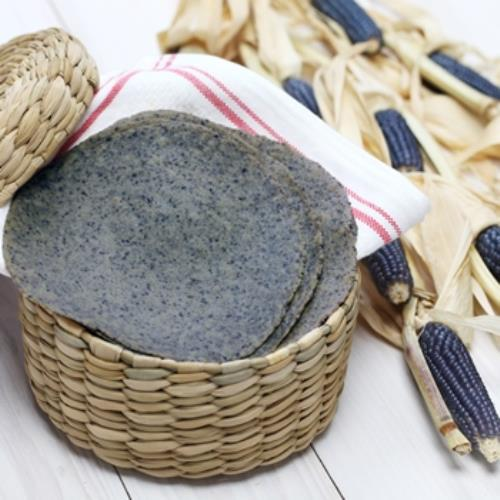 SOFT BLUE CORN TORTILLAS 10CM