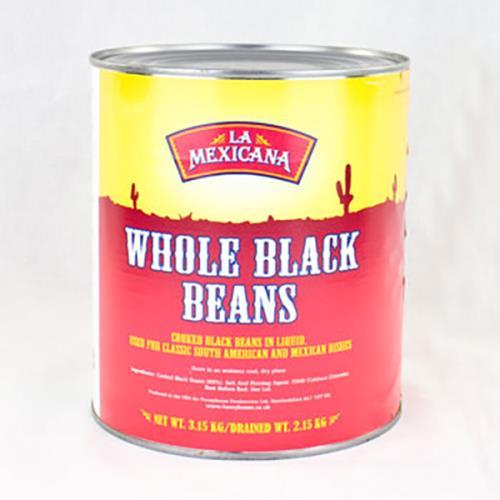 LA MEX WHOLE BLACK BEANS