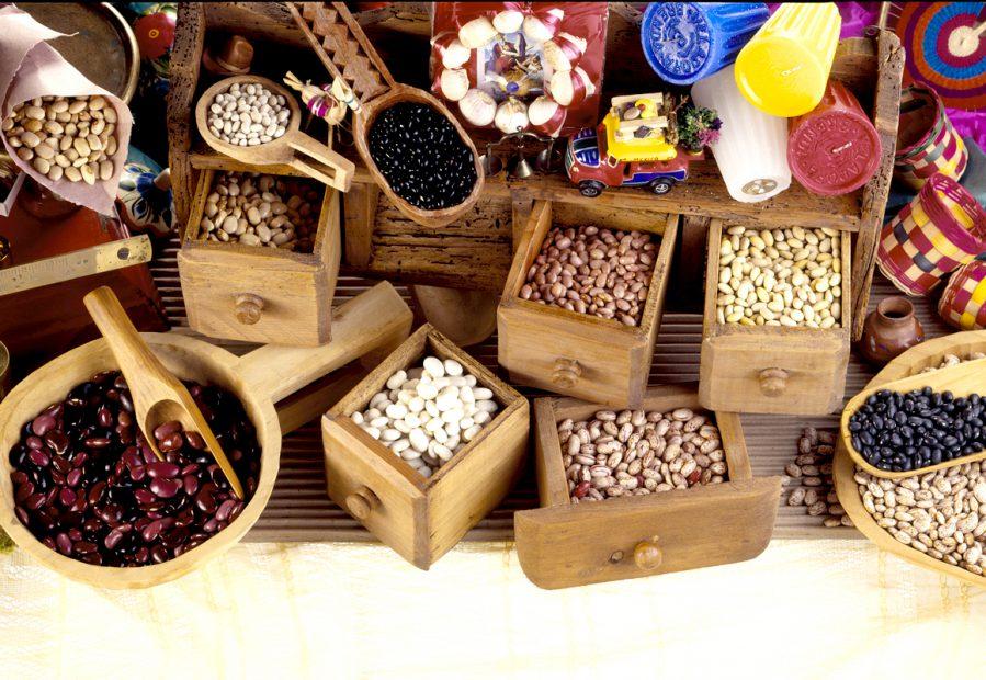 Frutas y frijoles - Cibo messicano