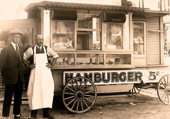 Storia degli hamburger