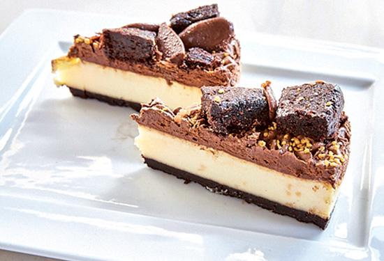 Triple choco cheesecake