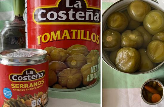 tomatillo e chile serrano
