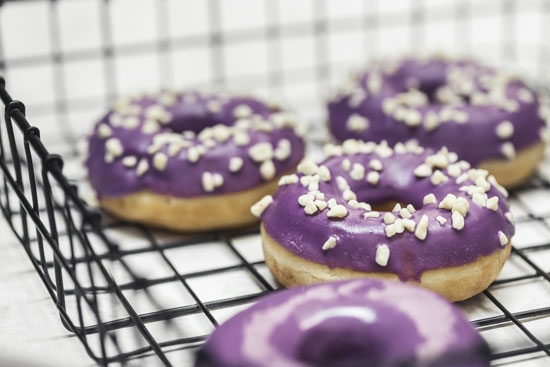 Donuts Purple White